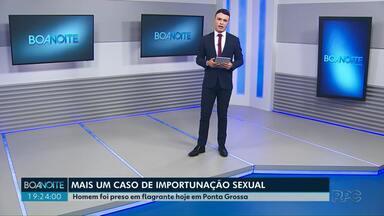 Homem é preso por importunação sexual em ônibus em Ponta Grossa nesta quinta (16) - Esse é o 11º caso registrado só neste ano.