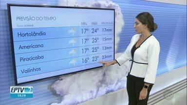 Campinas tem máxima de 23ºC nesta sexta-feira - Veja a previsão do tempo para as cidades da região.