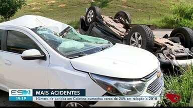 Número de acidentes aumenta cerca de 25% em relação a 2018 - Mais acidentes aconteceram no município.