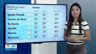 Confira a previsão do tempo para esta sexta-feira (17) no interior do Rio - Assista a seguir.
