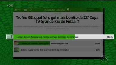 Enquete do GloboEsporte.com questiona qual o gol mais bonito da 23ª Copa TV Grande Rio - A votação está aberta até o sábado (18)