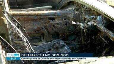 Encontrado carro do gerente de Ocara que está desaparecido - Confira mais notícias em g1.globo.com/ce