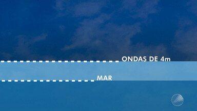 Marinha emite alerta sobre aumento da velocidade dos ventos no sul da Bahia - Na capital, os ventos provocaram a mudança de voos do aeroporto de Salvador para os de Porto Seguro e Aracaju. Veja mais detalhes na previsão do tempo.