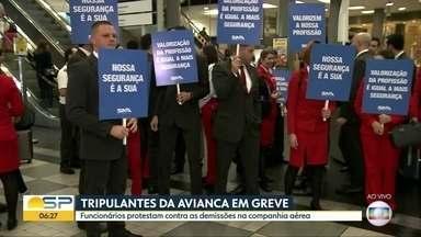 Tripulantes da Avivanca anunciam greve para esta sexta-feira - Funcionários da empresa, que pediu recuperação judicial, protestam contra as demissões na companhia.