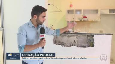 Polícia Civil faz operação contra o tráfico de drogas em Betim - Foco foi conjunto habitacional onde organização criminosa se instalou.