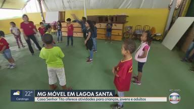MG Móvel conhece o projeto Casa Senhor Tito em Lagoa Santa - Projeto oferece, de graça, várias atividades para crianças, jovens e adultos. Casa funciona há 30 anos no bairro Palmital.