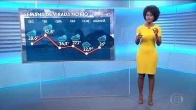 Veja como fica o tempo no sábado (18) - Tem previsão de chuva volumosa para a faixa litorânea do Rio.