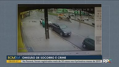 Não prestar socorro ao causar um acidente é crime - Atitude é omissão de socorro; no Paraná, 89 casos como estes foram registrados em 2019.