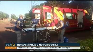 Homem é baleado no Bairro Porto Meira - Ele foi socorrido e encaminhado ao Hospital Municipal, em Foz.