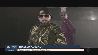 Rapper de Santos grava videoclipe na casa de Snoop Dogg nos EUA - Tubarão viajou para o exterior para gravar single. Música foi lançada em março deste ano.
