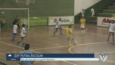 Copa TV Tribuna de Futsal Escolar tem rodada no ginásio do Rebouças - Os jogos acontecem na noite desta quarta-feira (22), na Ponta da Praia, em Santos.