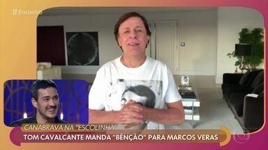 Tom Cavalcante manda 'bênção' para Marcos Veras - Marcos Veras vai interpretar João Canabrava na Nova Escolinha do Professor Raimundo