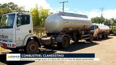 Batalhão Ambiental do Amapá apreende 45 mil litros de combustível clandestino - Polícia investiga origem da carga.