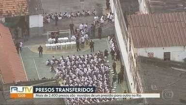 Megaoperação da Seap transfere cerca de 2500 presos - A Secretaria Estadual de Administração Penitenciária transferiu cerca de 2500 presos cumprindo recomendação da Corte Internacional de Direitos Humanos. A transferência ocorreu em quatro unidades prisionais.