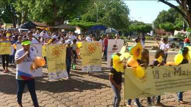 Caminhada contra o abuso e exploração sexual de crianças e adolescentes é realizada no MA - Em Balsas, uma caminhada foi feita para orientar a população a fazem a denúncia as autoridades que fazem parte da rede de proteção.