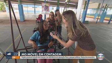 MG Móvel conhece projeto Circuito Inclusão Solidária - Projeto leva brinquedos adaptados a escolas, parques, praças, festas... Objetivo é possibilitar que crianças com deficiência possam brincar em todos os lugares.