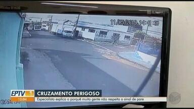 Falta de respeito às leis faz vítimas no trânsito em Ribeirão Preto, SP - Dados da Secretaria de Segurança Pública (SSP) mostram que, nos três primeiros meses deste ano, foram 60 boletins de ocorrência de acidentes registrados como lesão corporal culposa.