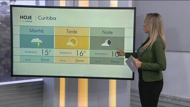 Temperatura mínima será registrada à noite - Massa de ar frio empurra as nuvens de chuva e provoca queda nas temperaturas.