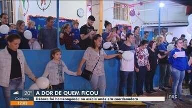 Amigos prestam homenagem a uma das vítimas morta no Chile - Amigos prestam homenagem a uma das vítimas morta no Chile