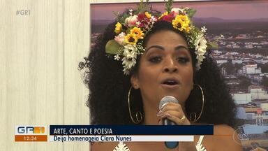 Cantora Deija homenageia Clara Nunes em seu novo show 'Dêija Clarear' - A cantora ganhou vários prêmios como intérprete, já foi jurada em festivais de música e desde 2018 está no Vale do São Francisco embalando os amantes de música.