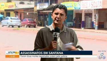 Jovem é morto a tiros e criança de 2 anos é baleada em Santana - Crime aconteceu na tarde desta quinta-feira (23), no bairro Piçarreira.