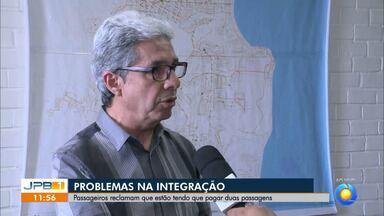 Falhas no sistema de Integração em João Pessoa - Os passageiros de ônibus estão pagando duas passagens.
