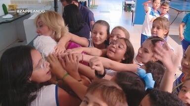 Parte 1: Pets fazem alegria da garotada em escola de Manaus - Parte 1: Pets fazem alegria da garotada em escola de Manaus