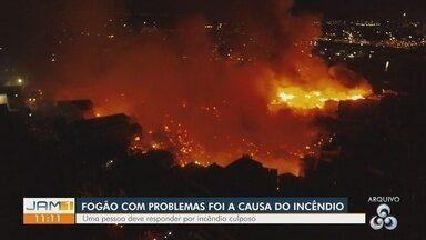 Incêndio que destruiu mais de 600 casas em Manaus teve origem em fogão com defeito - Tragédia aconteceu na Zona Sul de Manaus. Ação foi remetida à Justiça com o indiciamento de uma pessoa pelo crime de incêndio culposo.