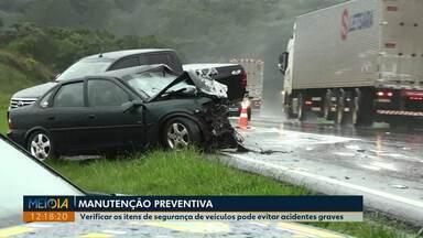 Verificar itens de segurança de veículos pode evitar acidentes graves - Acidente grave, na quinta-feira (23), deixou uma pessoa morta e duas feridas. PRF diz que batida poderia ter sido evitada se não fosse a falta de manutenção.