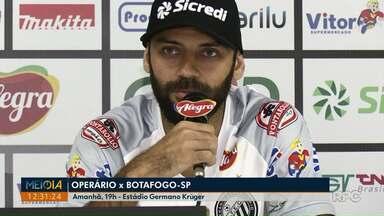Operário-PR enfrenta o Botafogo-PR no sábado (24) - Partida começa às 19h, no Estágio Germano Krüger.