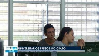 Dois universitários são presos suspeitos de tráfico de drogas no Crato - Confira mais notícias em g1.globo.com/ce