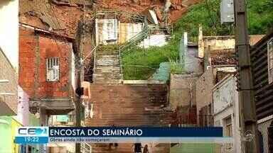 Obras da encosta do bairro Seminário no Crato ainda não começaram - Confira mais notícias em g1.globo.com/ce