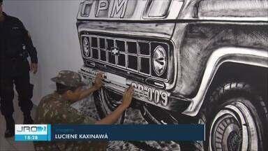 """Em Guajará-Mirim, comando do 6º BPM faz resgate histórico através de pinturas - O projeto """"Resgatando Valores"""" busca fortalecer a identidade do batalhão"""