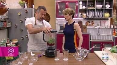 Malvino Salvador ensina receitas de sucos funcionais - Ator explica o passo a passo e os benefícios de cada suco