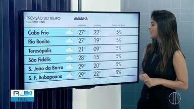 Confira a previsão do tempo para este domingo (26) no interior do Rio - Assista a seguir.