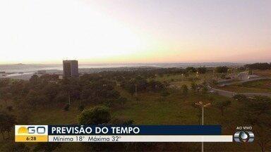 Veja a previsão do tempo para esta terça-feira (28) em Goiás - Dia deve ser de muito calor.