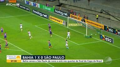Bahia vence o São Paulo e garante vaga nas quartas de final da Copa do Brasil - Veja os destaques do tricolor baiano.