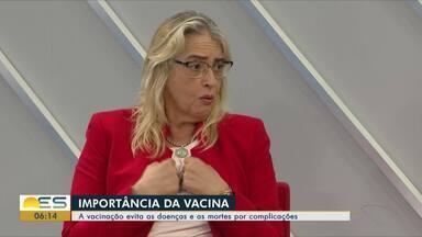 Campanha de vacinação contra gripe termina nesta sexta-feira (31), no ES - Oito pessoas já morreram em decorrência da forma grave da doença no estado. Especialista fala sobre a importância da vacinação.