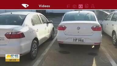 Câmara de Vereadores Vila Velha diz que carros são usados para trabalhos burocráticos - Telespectador ficou indignado com quantidade de carros a serviço do legislativo municipal.