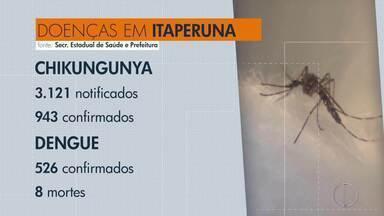 Itaperuna, RJ, tem 943 casos confirmados de chikungunya - Prefeitura informou estar fazendo diversas ações para combater o mosquito Aedes aegypti.