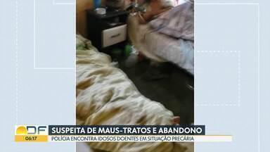 Homem é investigado por abandonar e maltratar parentes idosos - Os três idosos foram encontrados em condições precárias no Jardim Botânico.