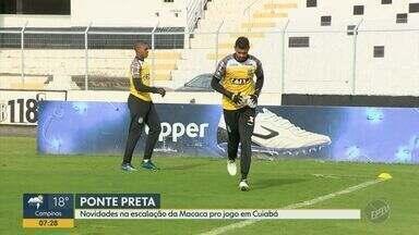 Confira as novidades na escalação da Macaca no jogo em Cuiabá - O técnico Jorginho definiu os substitutos do goleiro Ivan e o meia Mateus Vargas para o jogo deste sábado (1) contra o Cuiabá, ás 19h.