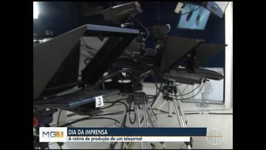 Conheça a rotina da Inter TV Grande Minas - Primeiro teste de transmissão da TV comemora 69 anos.
