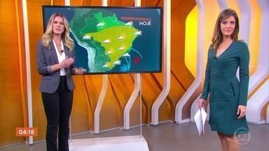 Previsão é de frio em várias regiões do país nesta terça-feira (4) - No Centro-Oeste, o tempo fica firme. Em São Paulo, no litoral paulista e capital pode chover pela manhã. Confira a previsão para todo o país.
