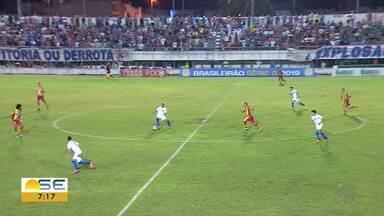 Itabaiana e Juazeirense ficam no empate em 1 a 1; veja os gols - Luiz Paulo abriu o placar para o Tremendão. Willian empatou para o Cancão de Fogo.