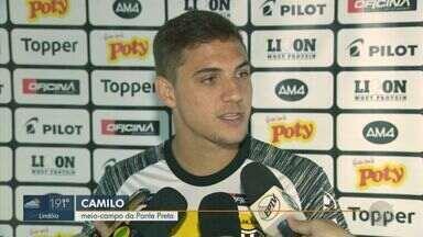 Camilo comemora o primeiro gol no time principal da Macaca - Ponte venceu o Cuiabá fora de casa pela série B.
