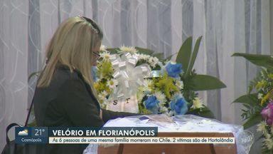 Corpos de família brasileira que morreu no Chile são velados em Santa Catarina - Seis pessoas foram vítimas de intoxicação por monóxido de carbono.