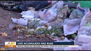 Moradores reclamam da sujeira nas ruas de Belém mesmo após retorno da coleta de lixo - Serviço voltou a ser realizado após impasse entre prefeitura de Belém e empresa responsável pelo recolhimento