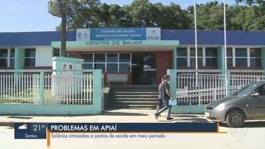 Postos de Saúde funcionam meio período e funcionários têm salários atrasados em Apiaí - Unidades de Saúde estão há sete meses funcionando apenas meio período, na parte da manhã.