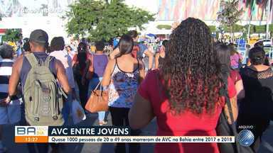 Cresce o número de vítimas de AVC com idade entre 20 e 49 anos - Entre 2017 e 2018, a doença provocou a morte de quase mil pessoas dessa faixa etária na Bahia.